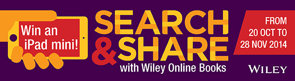 Search & Share with Wiley Online Books - Win an iPad mini, From 20 Oct to 28 Nov 2014